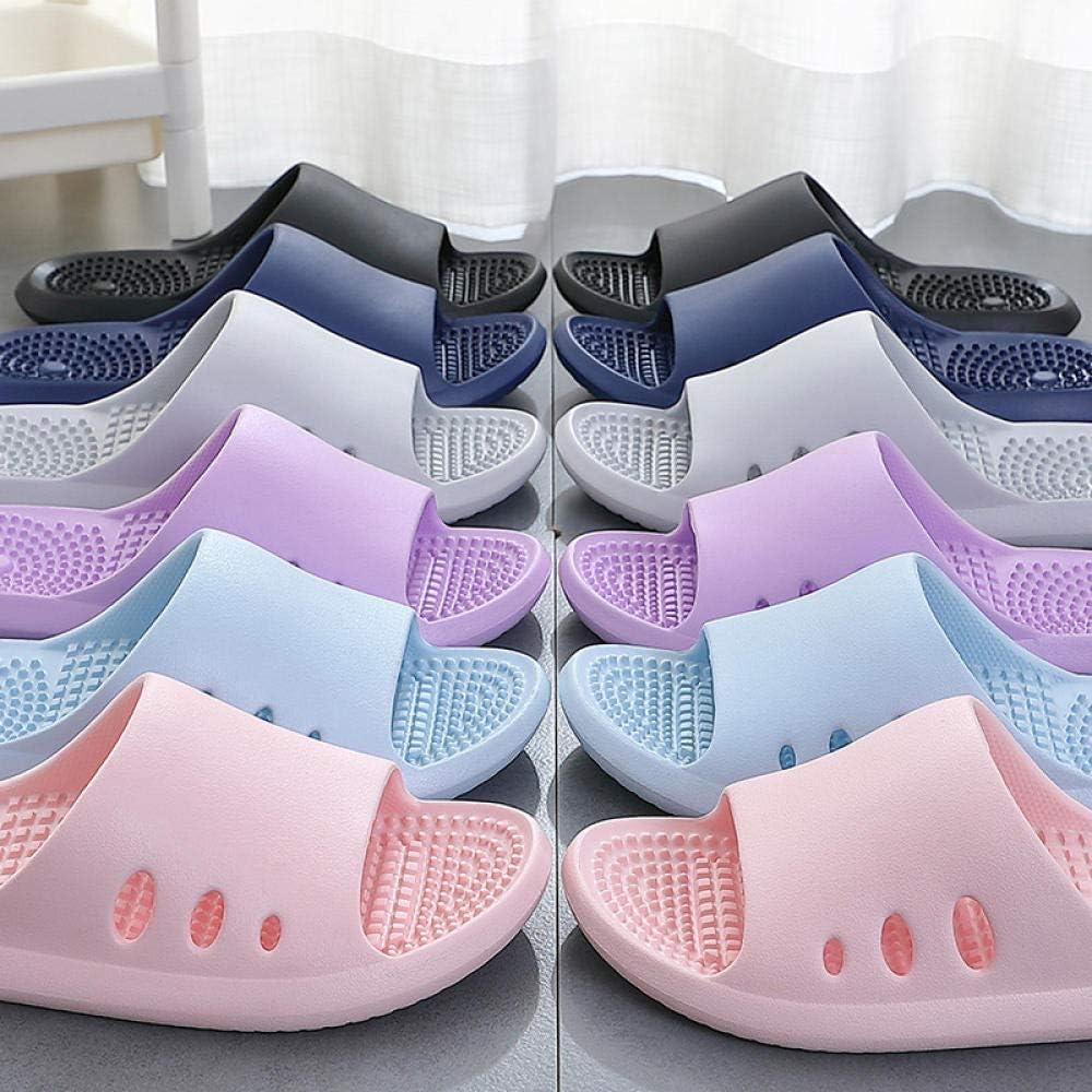 B/H Ducha Zapatillas Antideslizantes,Zapatillas de baño Antideslizantes para Masaje, Sandalias de Interior EVA para el hogar-púrpura_37-38, Zapatillas cómodas portátiles: Amazon.es: Hogar