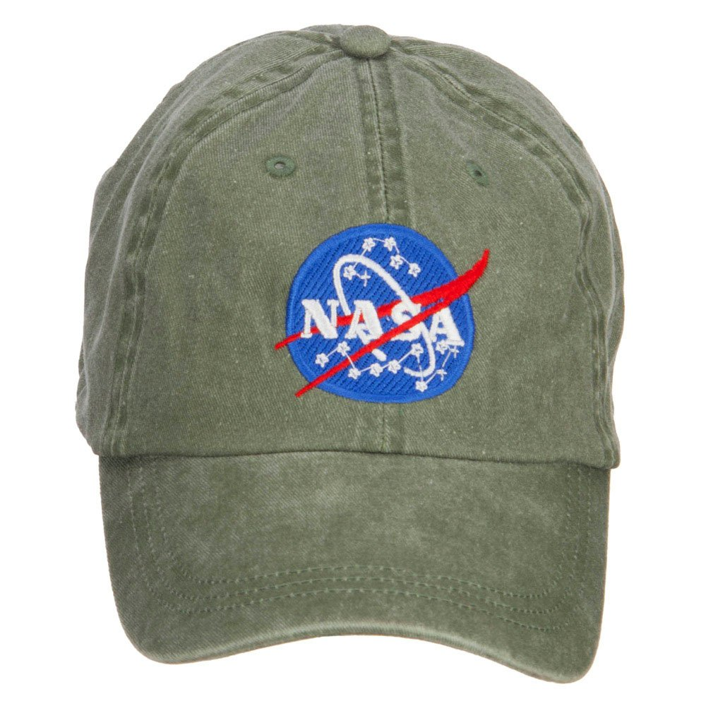 E4hats NASA Insignia Embroidered Washed Cap ie309mo-beige-osfm