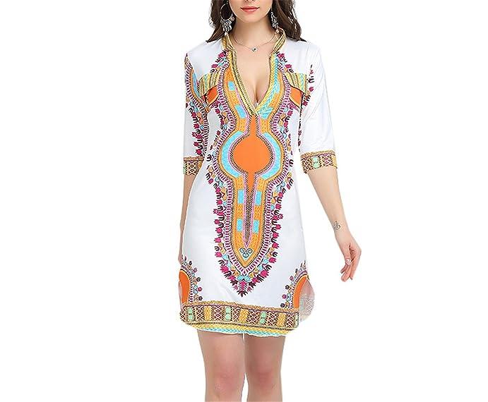 Eloise Isabel Fashion dress para as mulheres casual verão boho hippie imprimir tecido femme robe femme