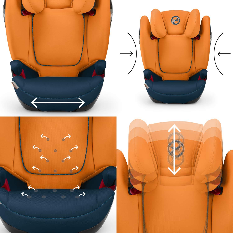 desde los 3 hasta los 12 a/ños aprox. 15-36kg para coches con y sin ISOFIX Cybex Autumn Gold Silla de coche grupo 2//3 Solution S-fix