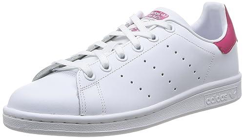 buy online 42a57 abab6 adidas Stan Smith J, Zapatillas Unisex Niños, Blanco (Ftwr White ftwr  White bold Pink), 37 1 3 EU  Amazon.es  Zapatos y complementos