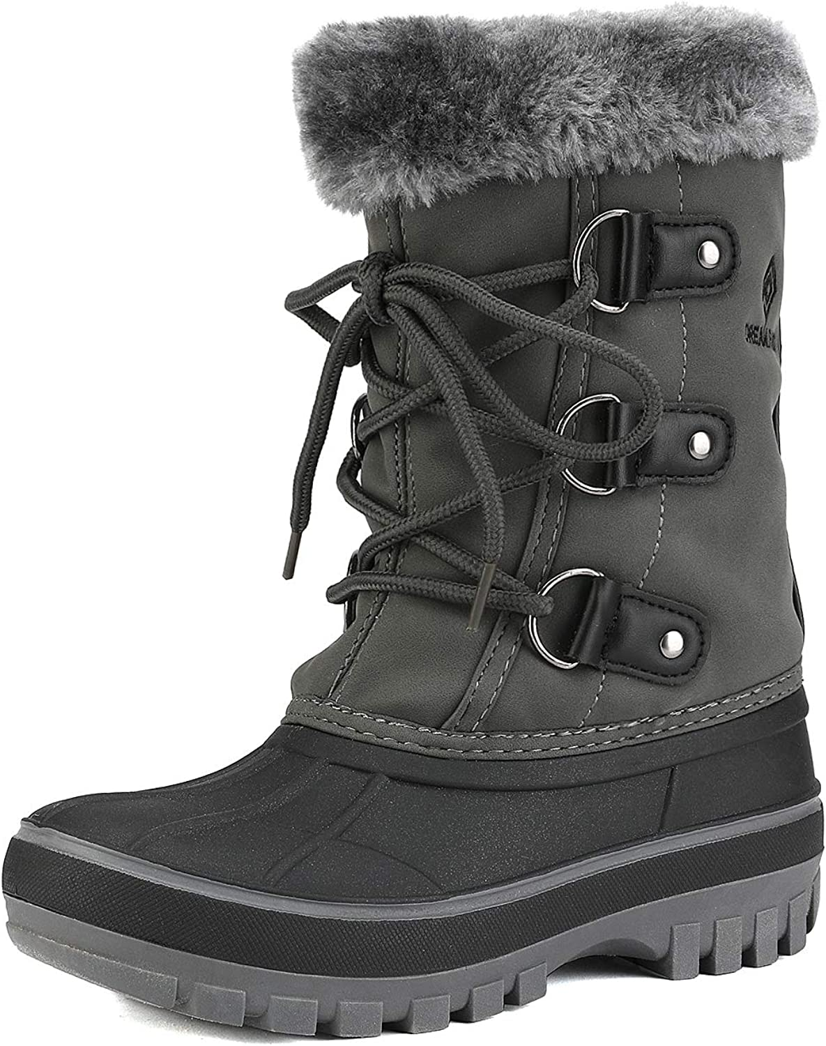 DREAM PAIRS Boys /& Girls Toddler// Kids Faux Fur-Lined Ankle Winter Snow Boots