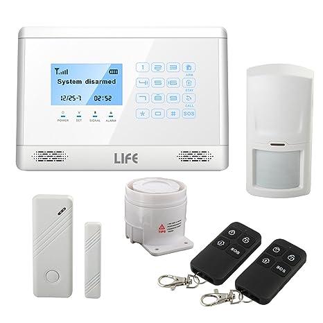 Alarma Antirrobo Touch screen Casa Kit de Transmisor ...