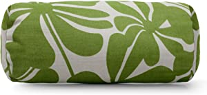 """Majestic Home Goods Sage Plantation Indoor / Outdoor Round Bolster Pillow 18.5"""" L x 8"""" W x 8"""" H"""