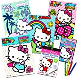Hello Kitty Coloring & Activity Book Super Set ~ 5 Hello Kitty Coloring Books, Crayons, and over 50 Hello Kitty Stickers (Hel