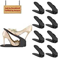 Cozime 8pezzi Creativo Durevole Regolabile scarpiera salvaspazio plastica Shoe Organizer, Scarpe salvaspazio Holder Shoe Rack