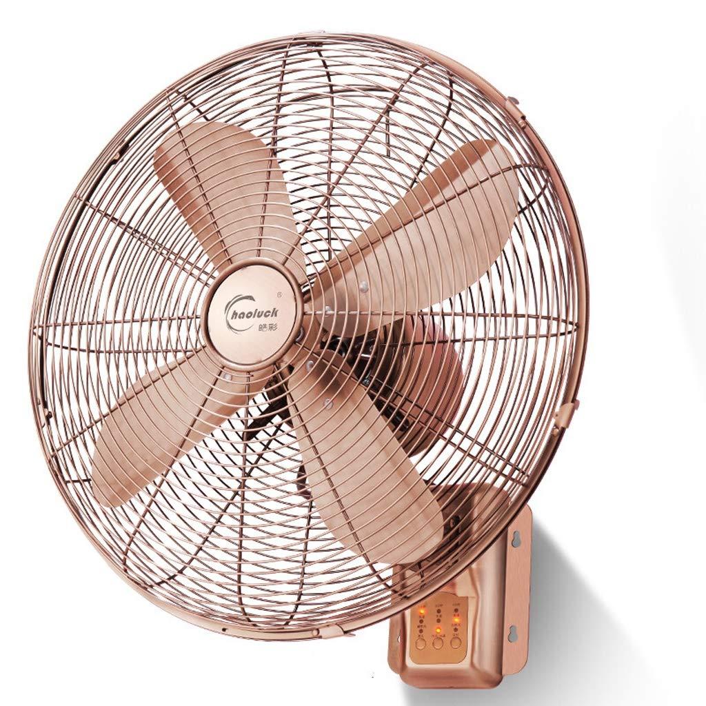 LYGT- ローズゴールド壁掛けファン、金属レトロ沈黙の頭部産業用ファン (サイズ さいず : A) A  B07PYTPW5J