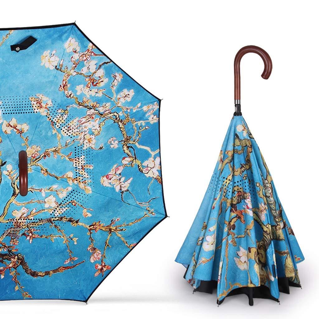 傘 家庭用傘逆折りたたみ傘車の傘大雨と雨傘3つのスタイル利用可能 HBJP (Color : B) B07SLTB82M B