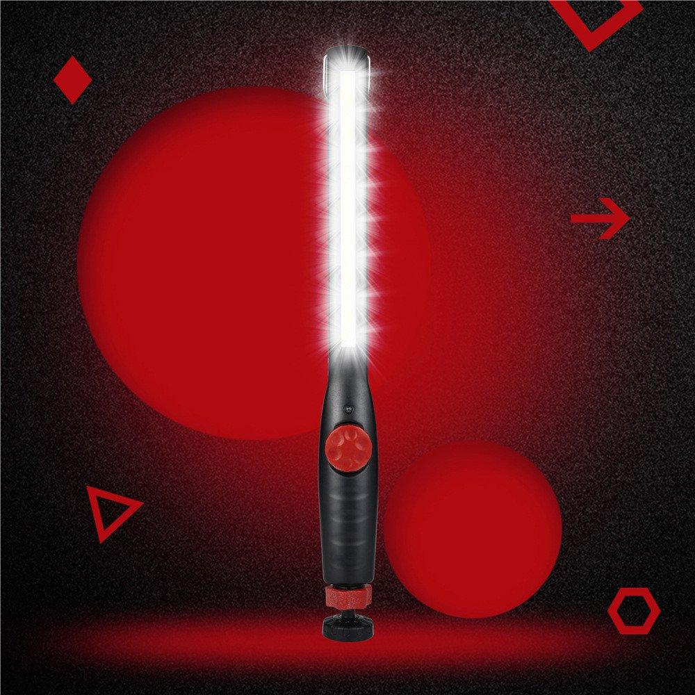 Gelb Siswong Wiederaufladbar Super Hell Innenbeleuchtung Werkstattlampen Magnet COB LED Handlampe