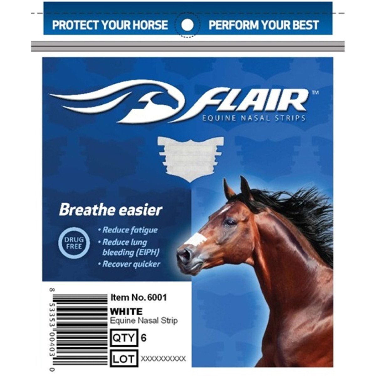 FLAIR Nasal Strips 6 Pack (White) by Flair