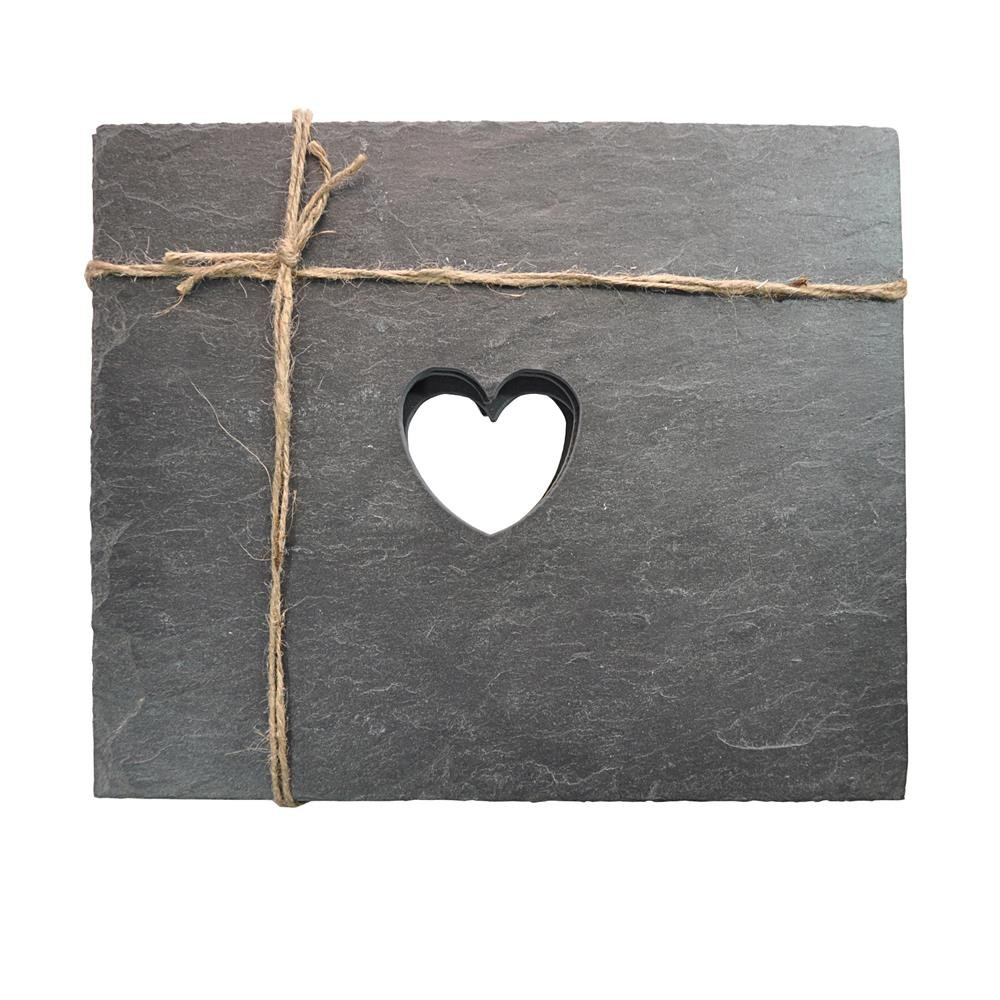 Heart Slate Placemats Roman At Home