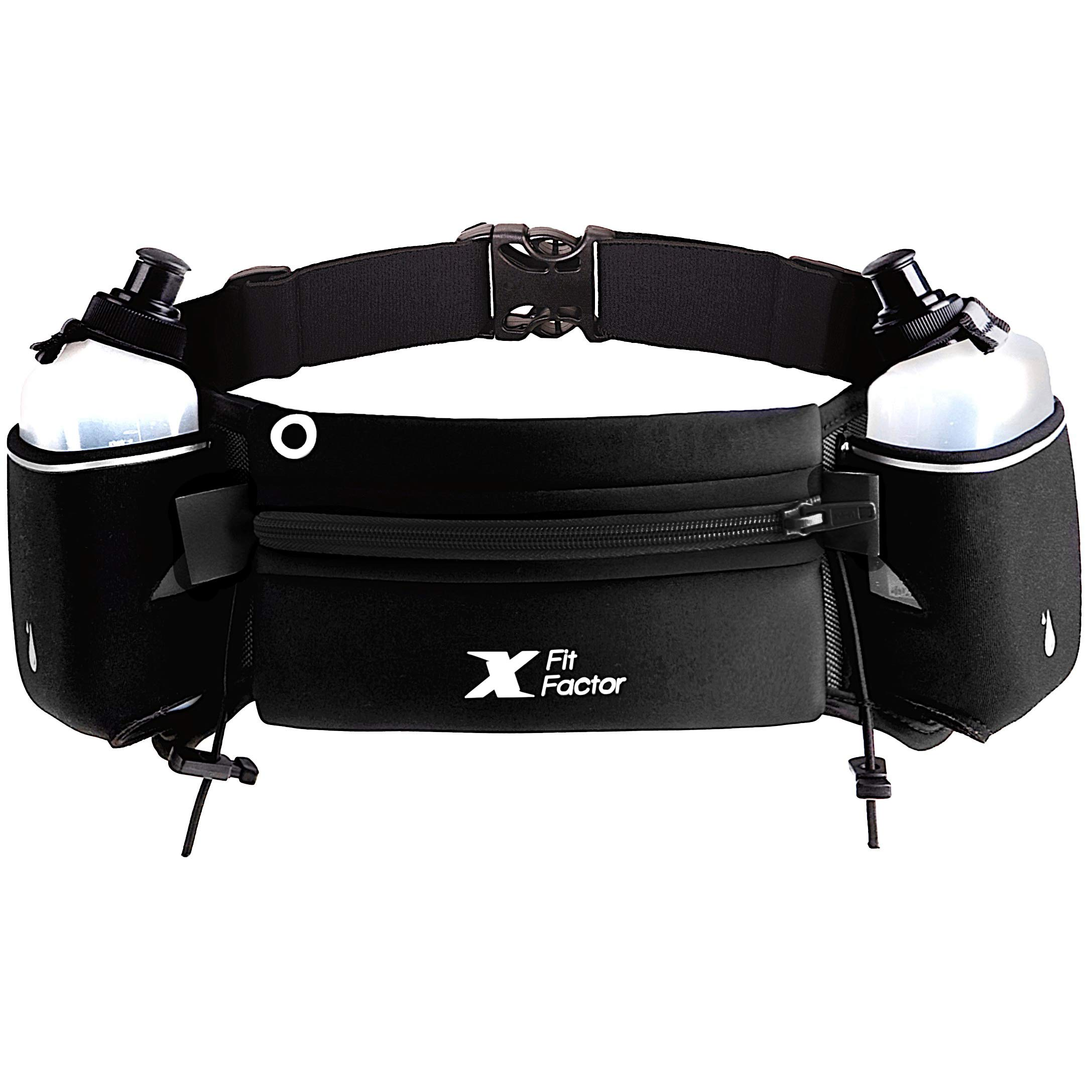 Running Hydration Belt - Waist Bag for Runners Women and Men - Adjustable Fuel Belt with