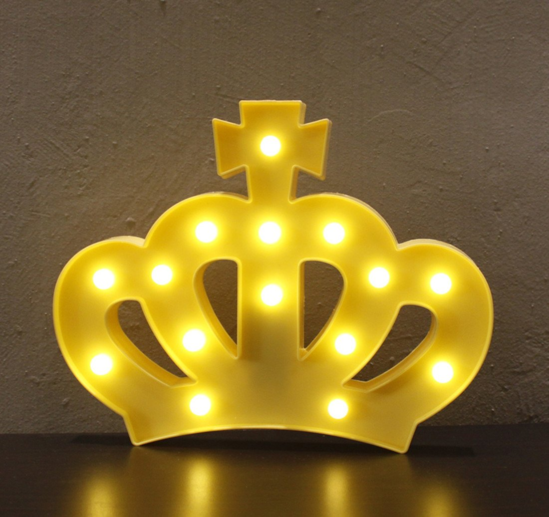 Amazon.com: 3D Crown Marquee Sign Light,LED Queen Princess Kings ...