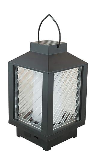 GOYAL Plastic Lantern & Pillar Candle (18 cm x 10 cm x 10 cm, Black, 2-Pieces)