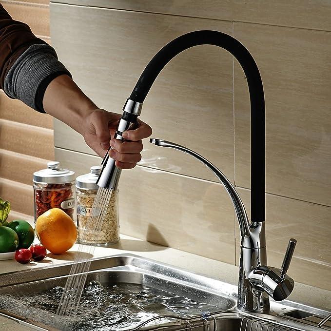 Hiendure® aus massivem Messing herausziehen Spray Küchenarmaturen ...