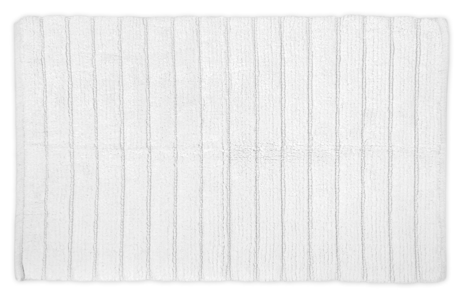 DII Ultra Soft Luxury Spa Ribbed Memory Foam Cotton Bath Mat Place in Front of Shower, Vanity, Bath Tub, Sink, and Toilet, 17 x 24 - Cream CAMZ32949