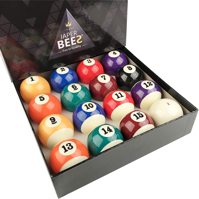 JAPER BEES Pro Juego de Bolas de Billar estándar, 16 Bolas ...