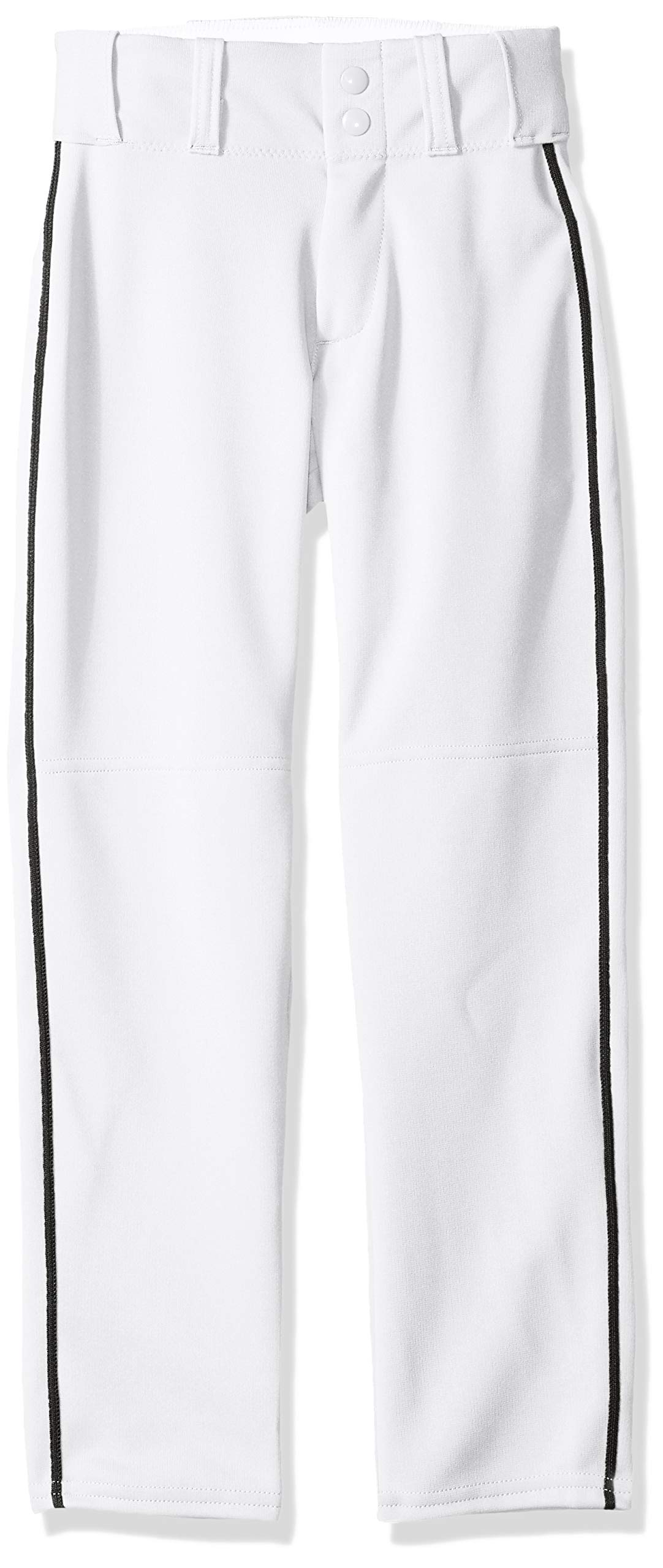Alleson Ahtletic Boys Youth Baseball Pants with Braid, White/Black, Large by Alleson Athletic