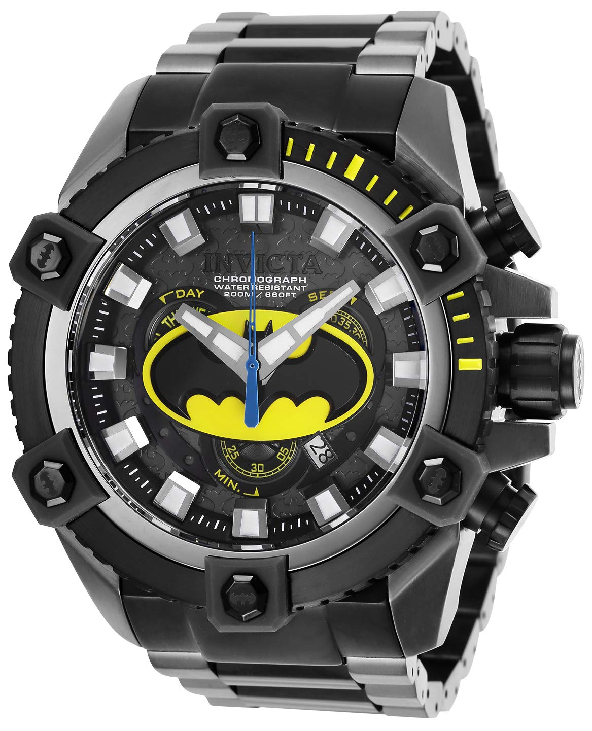 ویکالا · خرید  اصل اورجینال · خرید از آمازون · Invicta Men's DC Comics Quartz Watch with Stainless Steel Strap, Black, 31 (Model: 26912) wekala · ویکالا