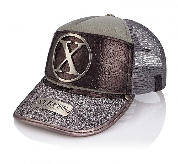 Xtress Exclusive Gorra fashion en tonos grises para hombre y mujer.  Amazon. es  Ropa y accesorios 5093a3dc70c
