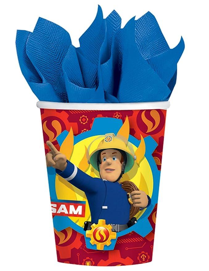 COOLMP - Lote de 12 Vasos de cartón Sam El Bombero de 250 ml ...