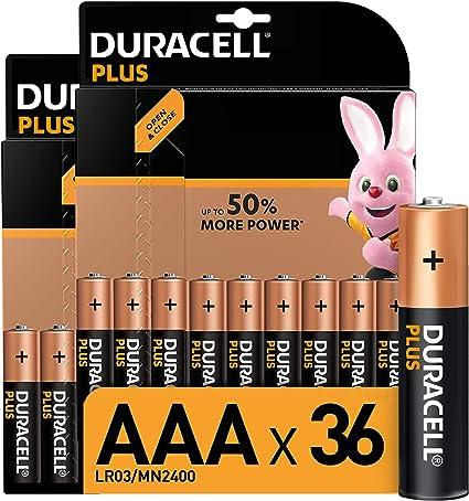 Duracell Plus Aaa Micro Alkaline Batterien Lr03 36er Elektronik