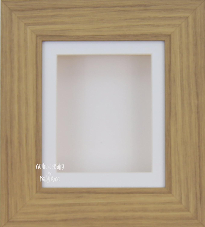BabyRice Objektrahmen, für 2D/3D Effekt Eiche weiß Passepartout ...