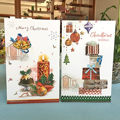 Amazon christmas cards lambergroup 8 assorted three christmas cardslambergroup 8 assorted three dimensional christmas greeting card designs 3 cards of m4hsunfo