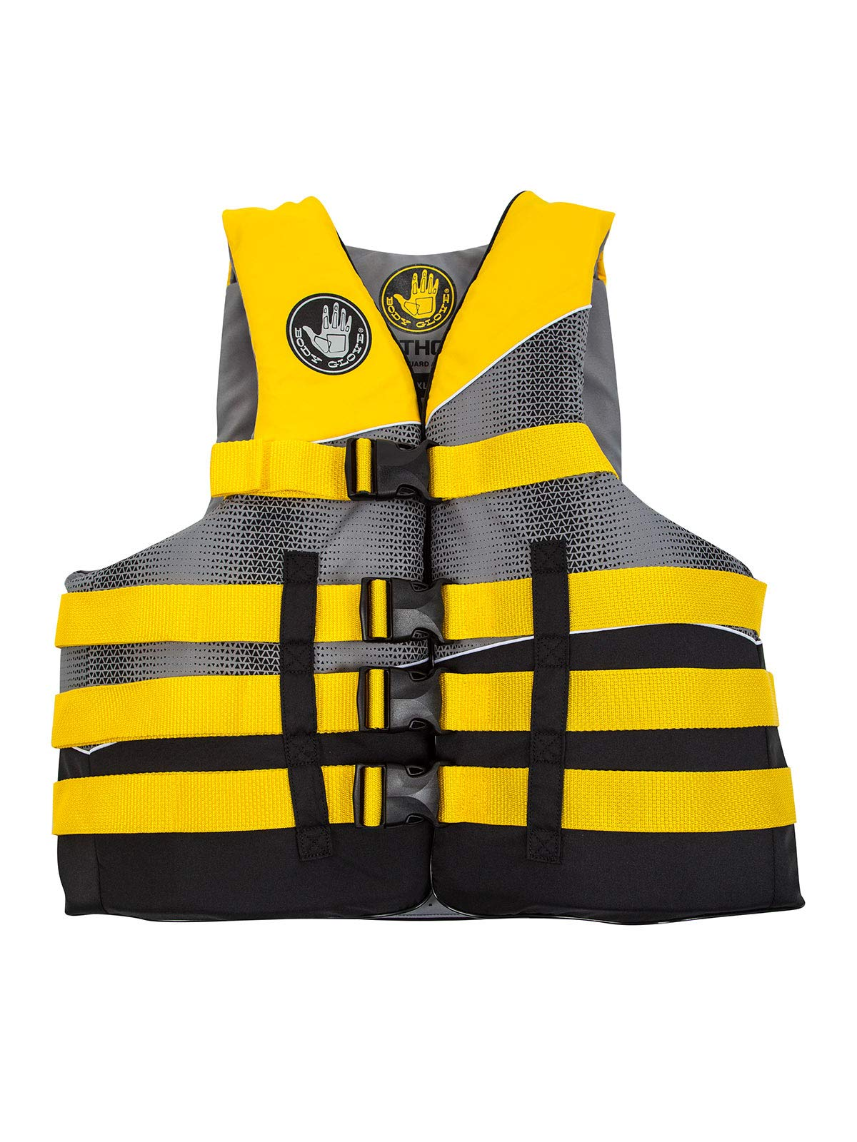 Body Glove Method USCG Approved Nylon Life Vest, X-Small, Black/Yellow/Silver/Grey