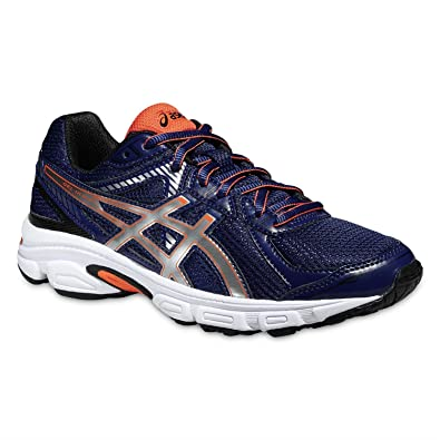 ASICS JUNIOR GEL-IKAIA 5 GS RUNNING SHOES - BLUE/SILVER/ORANGE UK
