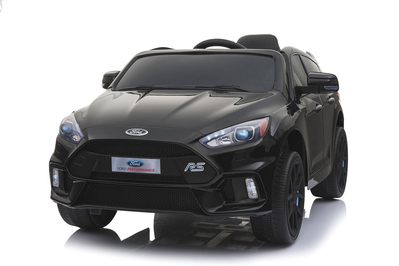 RIRICAR Ford Focus RS, Negro, Licencia Original, Batería accionada, Puertas de la Abertura, Asiento de Cuero, Motor 2X, Batería de 12 V, ...