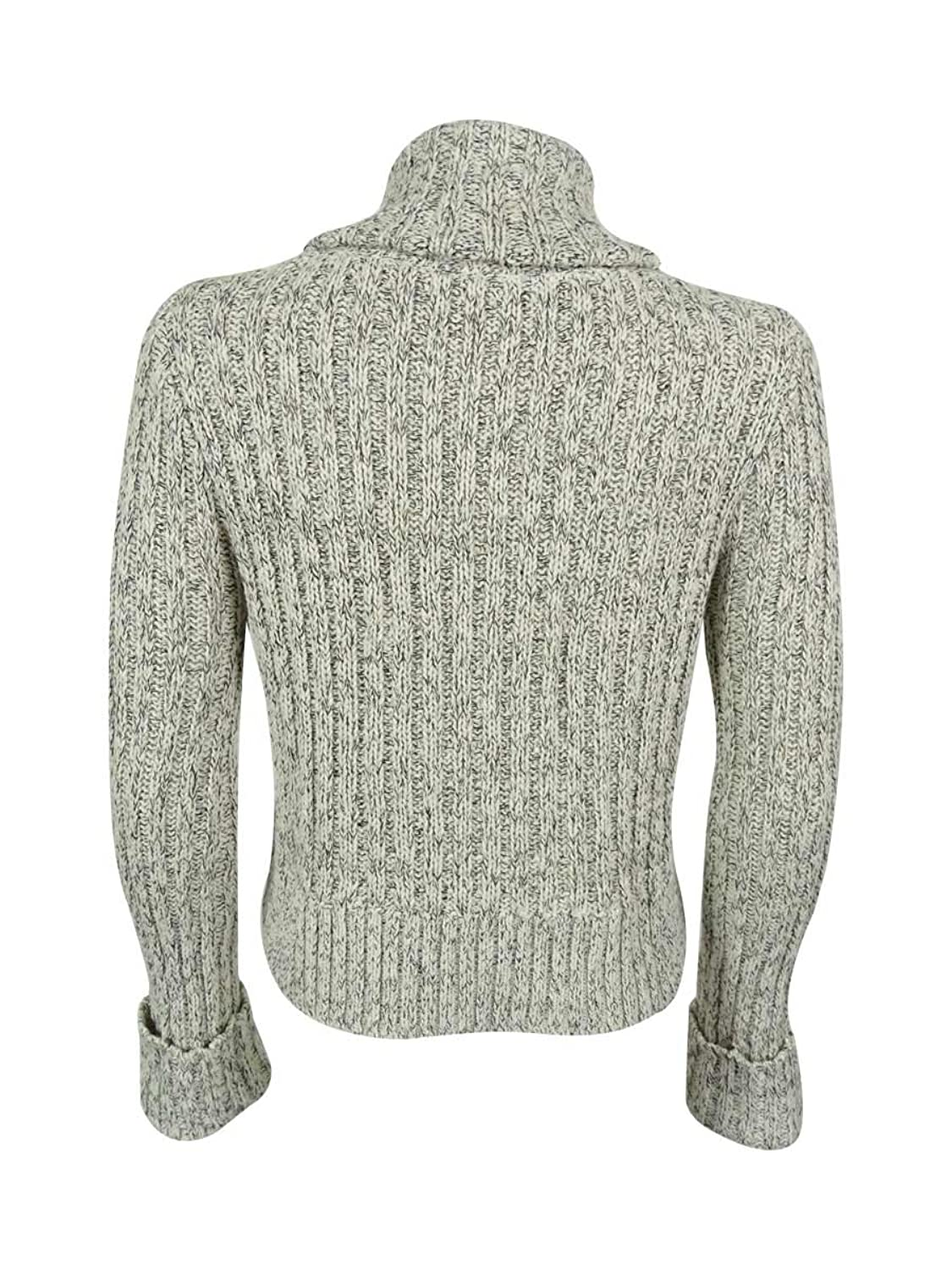 Free People Womens Marled Turtleneck Crop Sweater