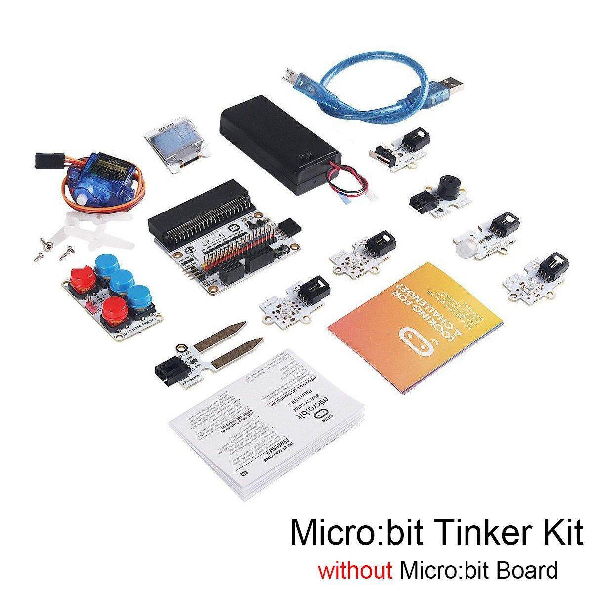 Micro:bit Tinker Kit w/o Micro:bit Board, Include Micro:bit Breakout Board, OCTOPUS PIR Sensor Module for Classroom Teaching and DIY Beginners