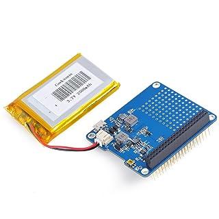 crazepony-uk Raspi UPS gorro Junta para Raspberry Pi modelo B de 3Pi 2B B + una + y 2500mAh de litio recargable