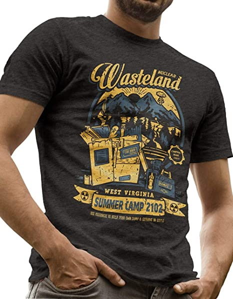 c22409eeaff3 LeRage Nuclear Wasteland Shirt Post Apocalyptic Videogame Tee Men's Small  Black