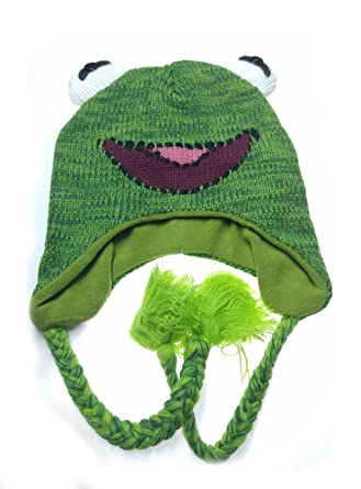 Muppets Kermit the Frog Knit Laplander Beanie Hat  Amazon.in  Clothing    Accessories 83985ee0d17