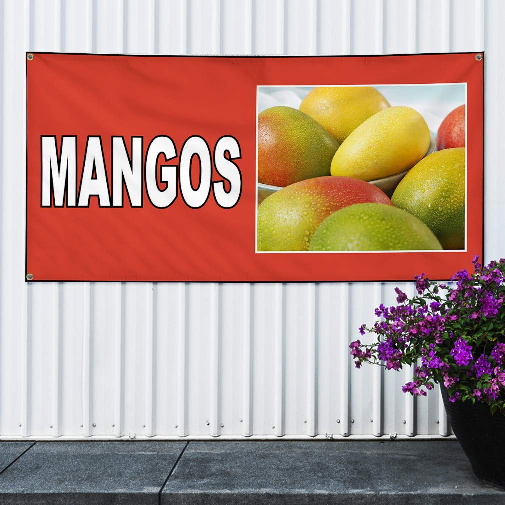 8 Grommets One Banner 44inx110in Multiple Sizes Available Vinyl Banner Sign Fresh Fruit Yellow Black Red Outdoor Marketing Advertising Yellow