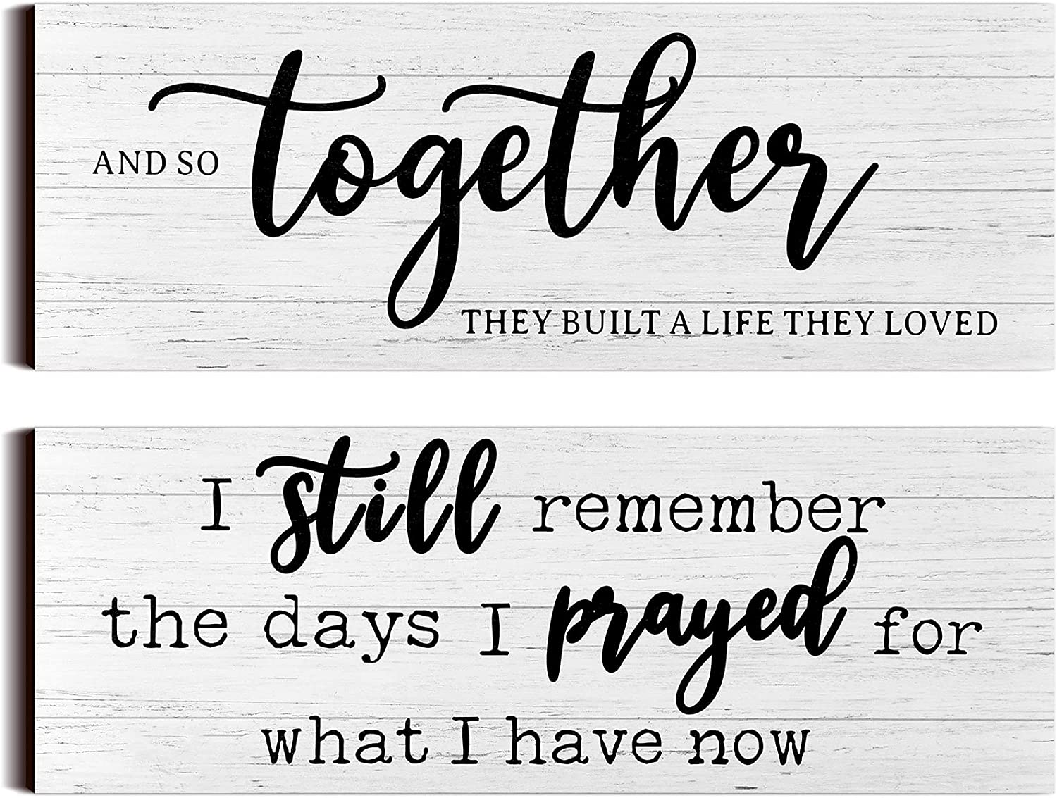 I Still Remember The Days I Prayed Modern Farmhouse Decor Rustic Wood Sign and So Together They Built a Life They Loved Sign Rustic Wood Family Sign Wooden Plaque Signs for Women