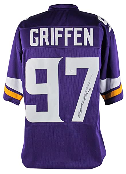 new concept 88c64 ca994 Signed Everson Griffen Jersey - Purple - JSA Certified ...