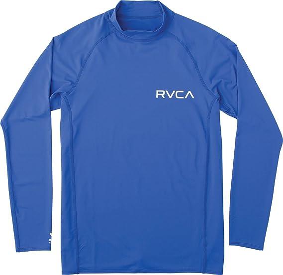 RVCA Mens Long Sleeve Rashguard Rash Guard Shirt