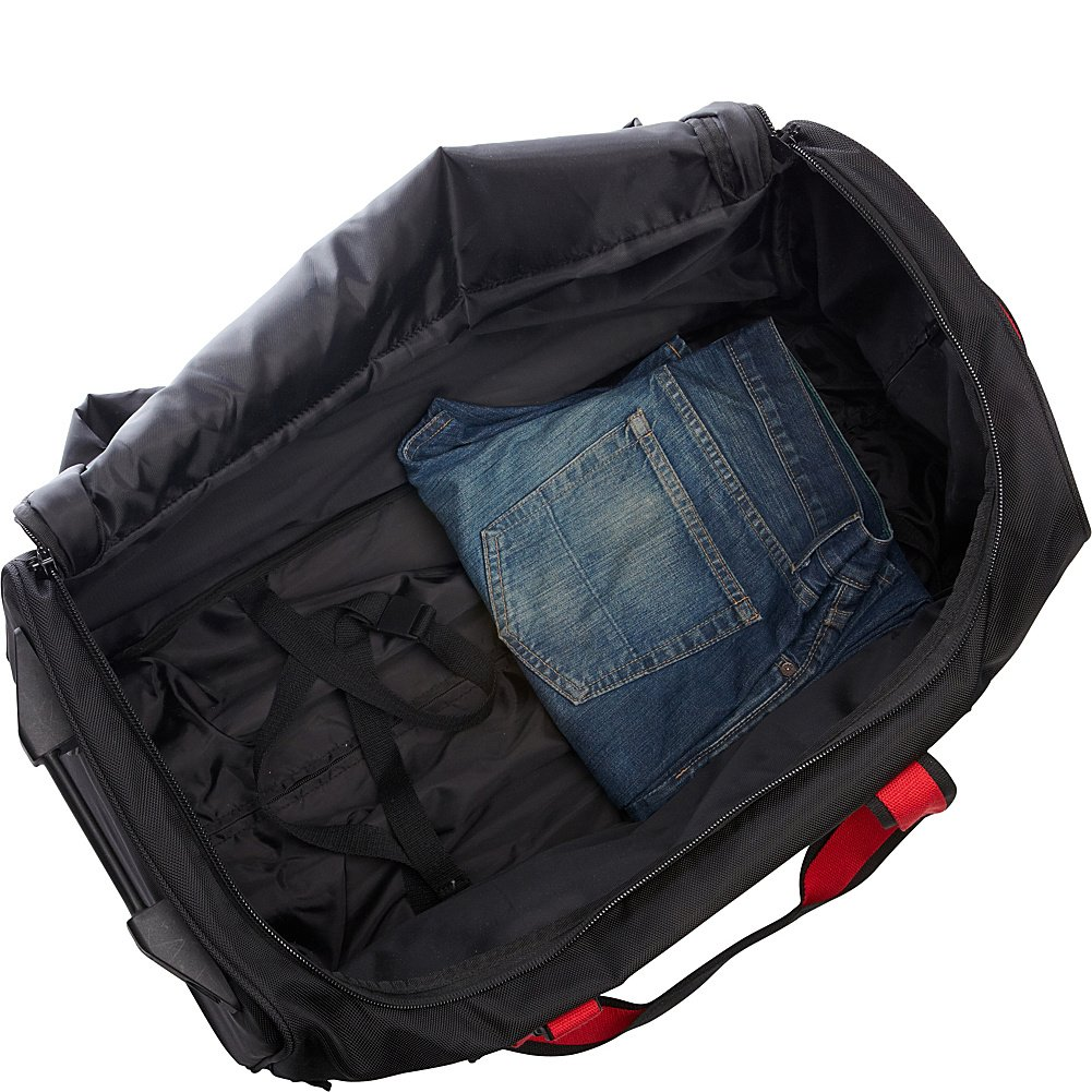 Black//Red Saks 25 Expandable Trolley Duffel A