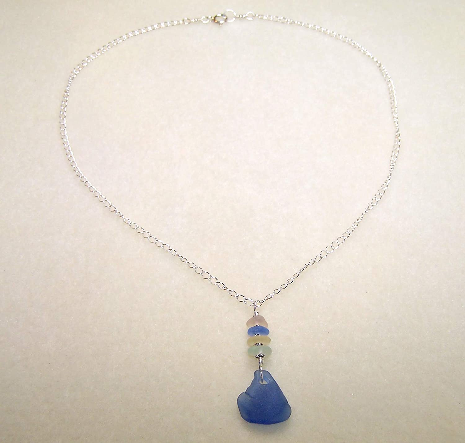 Sea Glass Necklace Real Sea Glass Jewelry 18 Inch