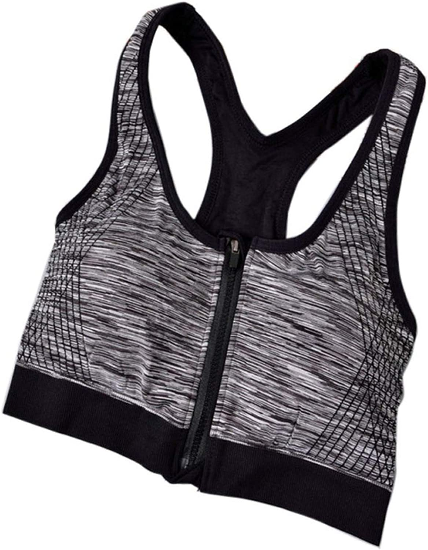 Women Fitness Sports Bra Shockproof Zipper Sports Bra Shockproof Yoga Running Underwear