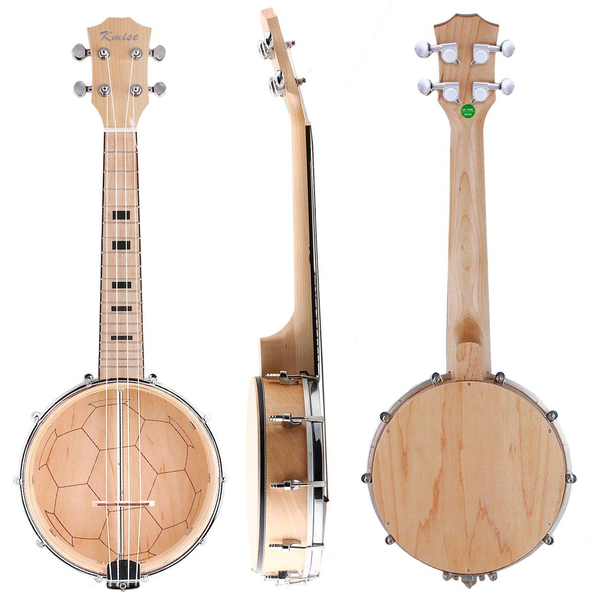 Kmise Banjo Ukulele 4 String Ukelele Uke Concert 23 Inch Size Maple Wood Ltd MI1876-KUS
