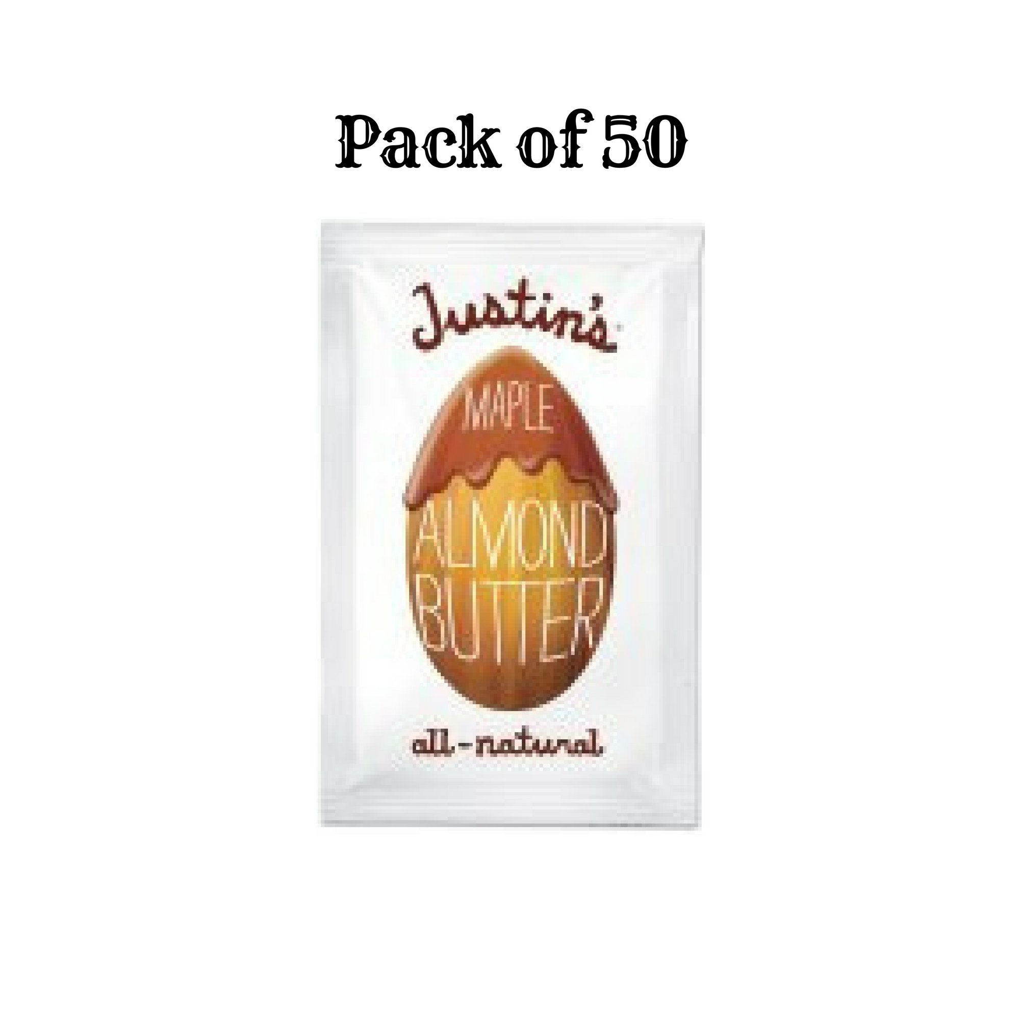 Justin's Maple Almond Butter, 1.15 oz Squeeze Pack, 10/Box - 5 Packs