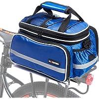 Selighting Bagagedragertas, waterdichte fietstas, achterwieltas, bagagedrager, tas met regenhoes