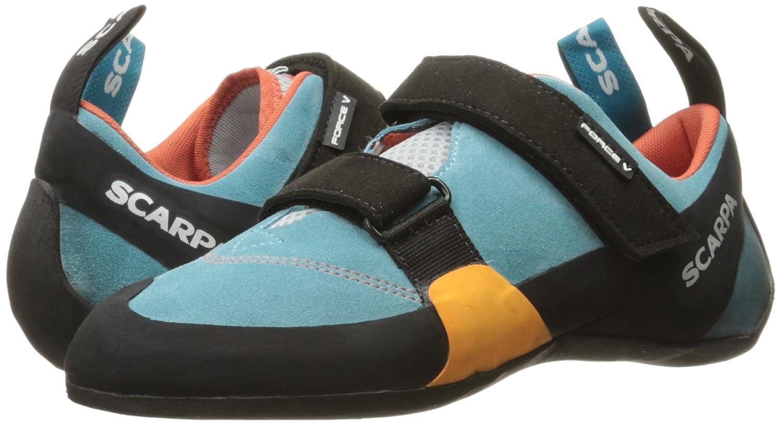 SCARPA Women's Shoe Force V Wmn Climbing Shoe Women's B01HTP3S48 37 M EU / 6 B(M) US|Ice Fall/Mandarin Red 0e5bf1