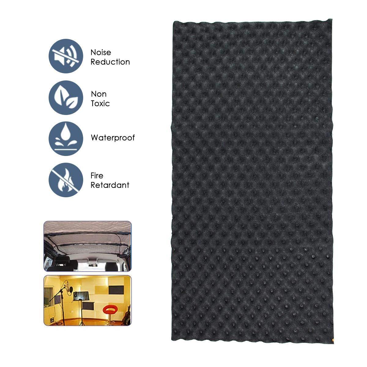 TEEPAO Panel de Espuma Aislante de Ruido para Coche Estudio de grabaci/ón Espuma insonorizante Resistente a la Humedad 2 cm x 50 cm x 10 m KTV hogar ign/ífugo