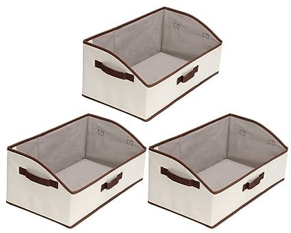 StorageWorks Storage Bins Fabric storage Baskets Foldable Closet Organizer Trapezoid Storage Box By  sc 1 st  Amazon.com & Amazon.com: StorageWorks Storage Bins Fabric storage Baskets ...