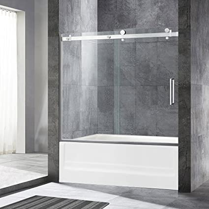Woodbridge Deluxe Frameless Sliding Tub Door 516 Clear Tempered